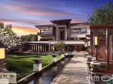 六层温泉中国古风别墅,联排温泉养生别墅,免中介费专车接送