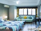 羁寓-万达SOHO单身公寓蓝色系设备齐全拎包入住精装