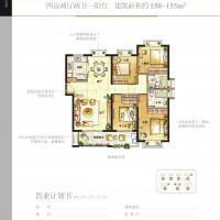 特房锦绣碧湖150-155㎡,四房两厅两卫一阳台