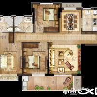 月港官邸D5户型,三房两厅两卫,建筑面积约108㎡.png