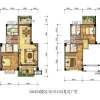 海晟颐翔湾5-7楼B3户型567楼02030405复式户型5F跃6F-130㎡.jpg