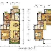 海晟颐翔湾5~7楼A1户型0567楼01复式户型1F跃2F-142㎡.jpg