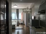 实拍万达公寓B区一房一厅瓷砖地板鼎丰海西万科软件园多套选