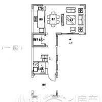园博壹号院别墅98㎡南户型