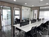 湖里万达写字楼精装修带家具138平多套低价急租