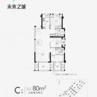 金地阳光城宝嘉·未来之城线上C80户型6幢601室.jpg